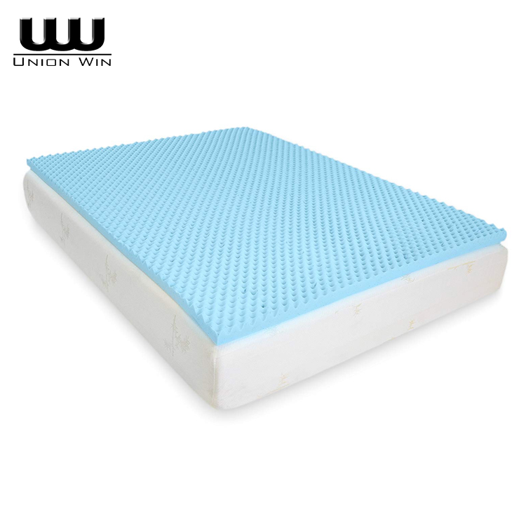 2 Inch Gel Infused Egg Crate Memory Foam Mattress Topper Union